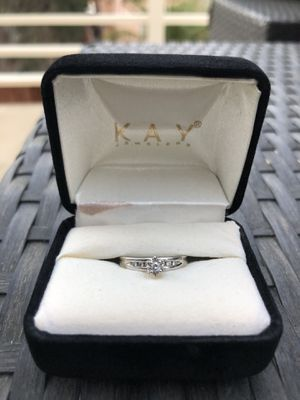 Diamond Engagement Ring 10k White Gold - size 5.0 for Sale in Escondido, CA