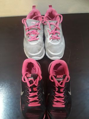Nike and Fila little girls sizes 1.5 and 13.5c for Sale in Palm Bay, FL