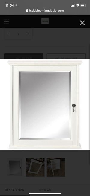 "Home Decorators Collection Newport 24"" Mirrored Medicine Cabinet - Ivory for Sale in Indianapolis, IN"