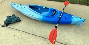 Kayak + Life Vest for Sale in Charlotte, NC