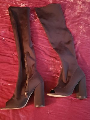 Lycra Thigh High Peep Toe Boots for Sale in Reading, PA