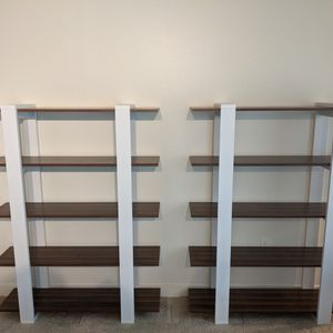 1 Or 2 Modern Walnut 5 Tier Bookshelves for Sale in Seattle, WA