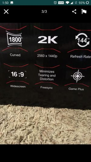 Gaming monitor for Sale in Sumner, WA