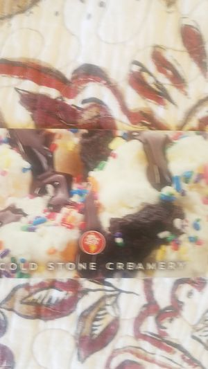 $50 cold stone creamery for Sale in Indianapolis, IN