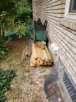 Assorted lumber and wheel barrel for Sale in Hagerstown, MD