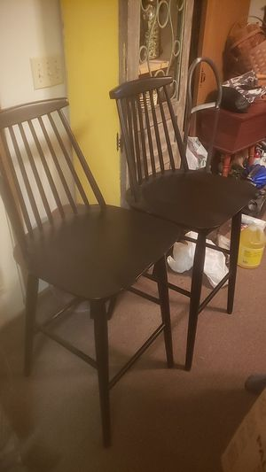 2 black bar stools for Sale in Newark, OH