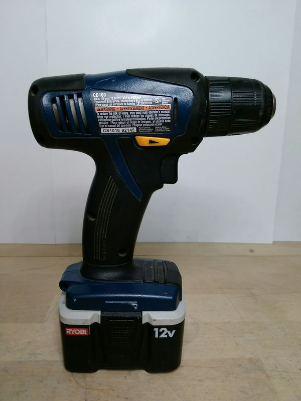 "$39.99 - RYOBI CD100 12v 3/8"" Cordless Drill/Driver Kit"