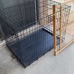 Dog Crate 36in. And Pet Gate $10 For Both for Sale in Rancho Cucamonga,  CA