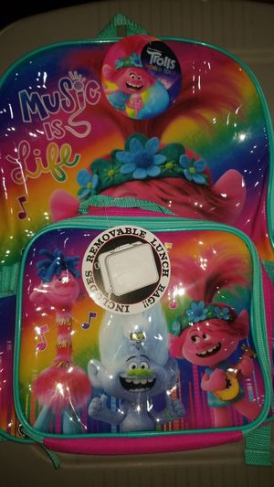 New Trolls World Tour Backpack and Lunch Bag for Sale in Lemon Grove, CA