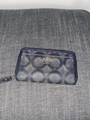 Blue/ Gold Coach Small Clutch Wallet for Sale in Upland, CA