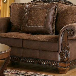 Ashley truffle sofa set bradington brown sofa pillows in box for Sale in St. Louis, MO