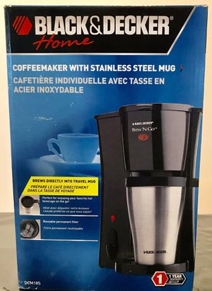 "BLACK & DECKER ONE~CUP COFFEE MAKER"" with STAINLESS STEEL MUG ...... $15.00 CASH ONLY. for Sale in Lake Worth, FL"