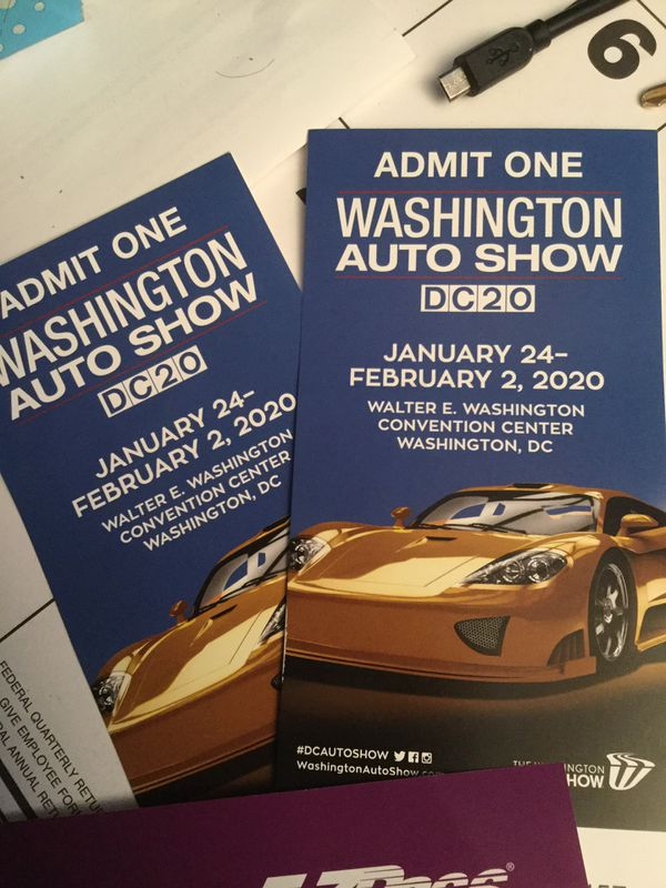 2 tickets for DC car show