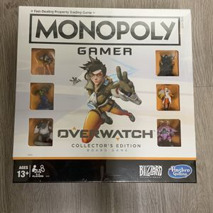 Monopoly GAMER OVERWATCH COLLECTOR's Edition Board Game New Sealed for Sale in San Diego, CA