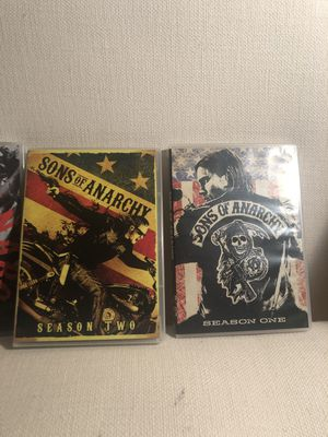 Sons of Anarchy complete season's 1,2,3,5 for Sale in Frisco, TX