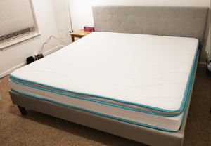 King Size Mattress + Bed Frame for Sale in Roanoke, VA