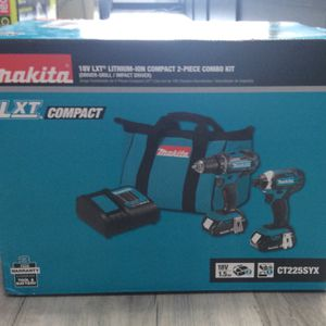 Makita 18-Volt Compact 2-Piece Drill/Impact Driver Combo Kit for Sale in Tampa, FL
