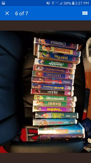 Disney VHS tapes. Masterpiece collections and black diamond for Sale in Anaheim, CA