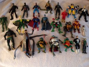 Toys 1977 Princess Laya Star wars 1984 Flash Mid 90's Venom and Wolverines 90's ninja turtles for Sale in Claremont, CA
