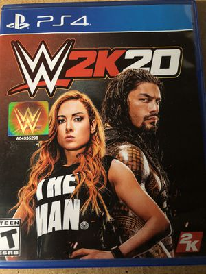 Wwe 2k20 PS4 for Sale in Charlotte, NC