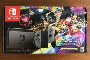 BRAND NEW Nintendo Switch Mario Kart 8 Deluxe Console Bundle - Gray Joy-Con for Sale in Sandy, UT
