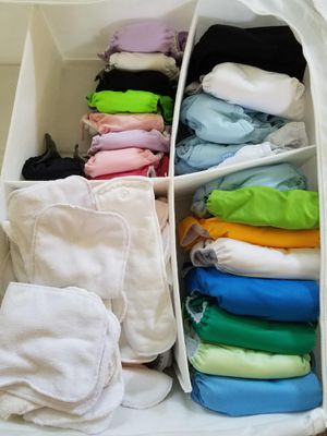 53 Cloth diapers with additional items. OBO for Sale in Westerville, OH