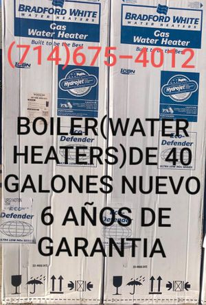 BOILER(WATER HEATERS)DE 40 GALONES NUEVO DE LA MARCA BRADFORD WHITE NUEVO!!!! for Sale in Santa Ana, CA