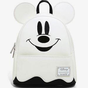 Halloween Loungefly Disney Mickey Mouse Ghost Glow in the Dark Backpack / Ghost Mickey Mouse / Loungefly backpack collection / Disney collectibles for Sale in Gilbert, AZ