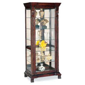 Rectangular 6-Shelf Curio Cabinet with Ornate Edges and Decorative Feet Cappuccino for Sale in Sterling, VA