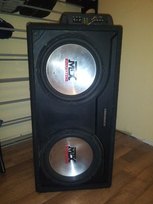 "MTX 12"" Subwoofer in box with 400Watt MTX Amplifier for Sale in Millbrook, AL"