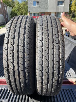 2) 235/85/16 Trailer King ST Radial Tires. Load range E Lots of tread left $120 for both for Sale in Chester, PA