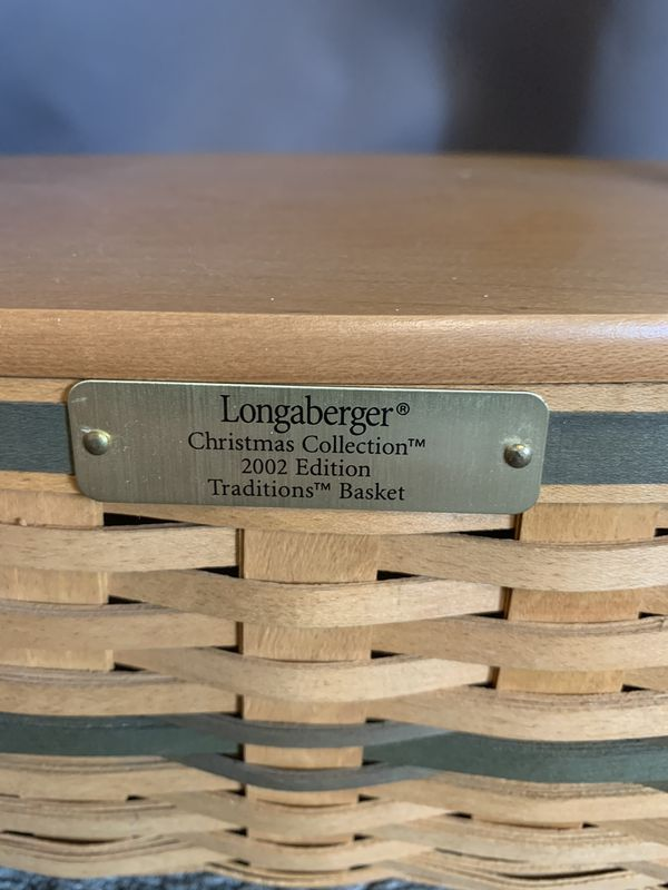 Longaberger Christmas Collection 2002 Edition Traditions Basket