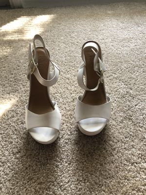 White Charlotte heels for Sale in Fort Myers, FL