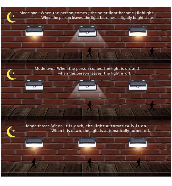 Solar Motion Sensor Light Outdoor Garage Lights 70 LED Solar Security Light with 3 Modes and Remote Controller for Front Door Step, Backyard, garage,