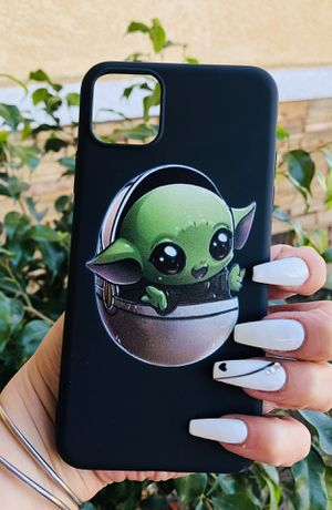 Brand new cool iphone 11 PRO MAX case cover phone case rubber STAR WARS BABY YODA VADER mens guys hypebeast hypebae womens girls hype swag for Sale in San Bernardino, CA