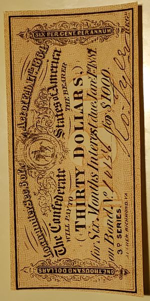 1864 $30 US Confederate States of America! Choice Crisp XF! Old US! for Sale in Alhambra, CA