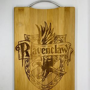 Harry potter ravenclaw laser engraved bamboo high quality cuttingboard kitchen pop for Sale in Los Angeles, CA