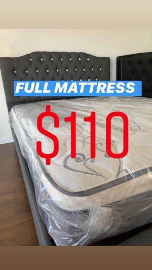 LOCATED IN LOS ANGELES $20 Delivery Fee ‼️ BRAND NEW PILLOW TOP MATTRESSES💯 COLCHONES NUEVOS PILLOW TOP 💯 Queen $120 ❌ $180 With Box Spring 💥💥 FU for Sale in Riverside, CA