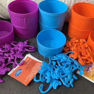 Lot of 3 Barrel of Monkeys Kids Toys Boy Girl Orange Blue Purple for Sale in Brooklyn, NY