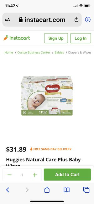 HUGGIES NATURAL CARE PLUS BABY WIPES for Sale in Riverside, CA
