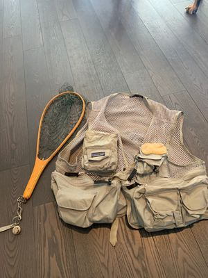 Patagonia fishing vest, flies, reel and more! for Sale in Denver, CO