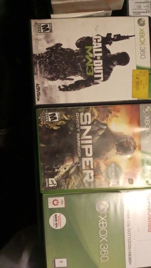 3 Xbox 360 Games as a lot! for Sale in Shamokin, PA