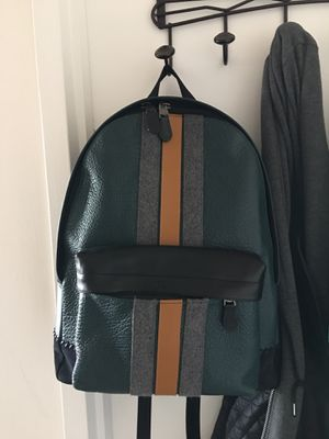 Coach Varsity Leather - Charles Backpack - Forest Green for Sale in Arlington, VA