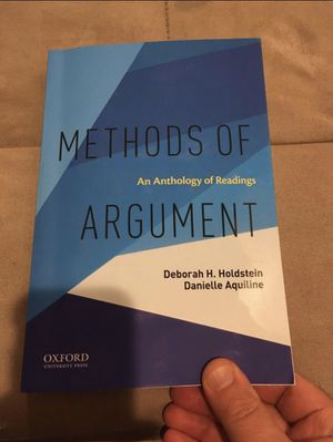 Methods of Argument: An Anthology of Readings for Sale in Overland Park, KS