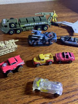 6 Micro Machines With Jet Airplane & Army Truck for Sale in Folsom,  CA