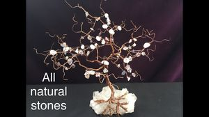 Rose quartz and copper tree, handmade for Sale in Bakersfield, CA