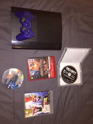 PS3 with 4 games and one controller + Headphones for Sale in Union City, GA