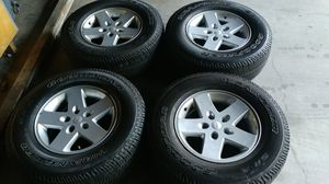 Tires and wheels off of a Jeep 2015 for Sale in West Covina, CA