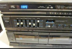 80s , 90s retro AM/FM Cassette Stereo Receiver System with 2 Speakers for Sale in Palatine, IL