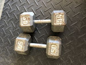 50 pound hex Dumbbells for Sale in Oviedo, FL